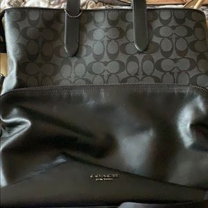 Coach Logo black and gray tote